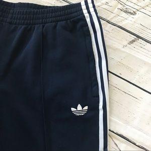 Adidas Originals navy blue warm up track pants
